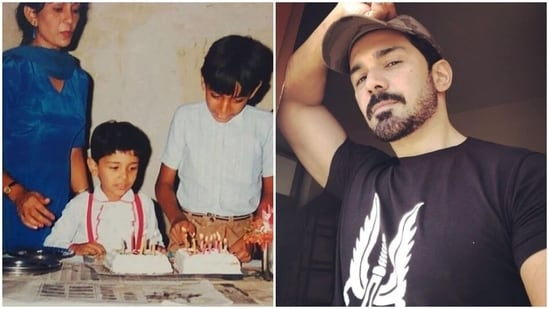 Abhinav Shukla shared a childhood picture also featuring his mother and elder brother.