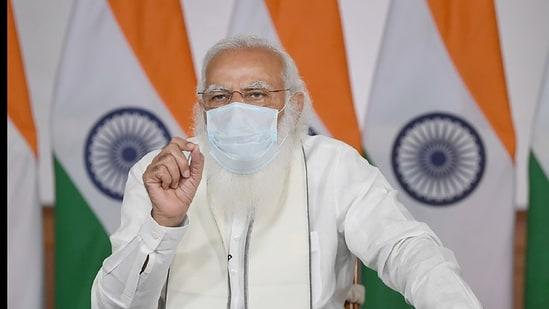 PM Modi sanctioned procurement of 1 lakh oxygen cylinders(PTI)
