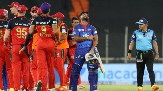Rishabh Pant captain of Delhi Capitals reacts during the Vivo Indian Premier League 2021 between the Delhi Capitals and the Royal Challengers Bangalore held at the Narendra Modi Stadium, Ahmedabad, Tuesday, April 27, 2021.(PTI)