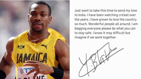 Yohan Blake tweeted about IPL and the situation in India