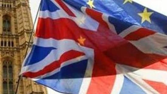 Relations between the EU and the UK have been strained since a Brexit transition period ended on Jan. 1.(Bloomberg file photo)