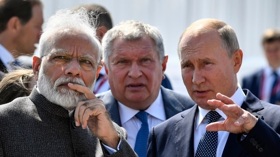 """Modi thanked Putin and said the """"prompt Russian support to India was a symbol of our enduring partnership"""".(File photo)"""
