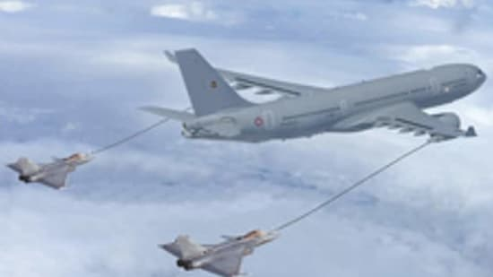 The A330 can not only operate with load in thin atmosphere of Ladakh and beyond but also supply fuel to Indian fighters at Himalayan heights with combat radius of 1800 km and 50 tonnes of fuel for four hours.(Representational photo)