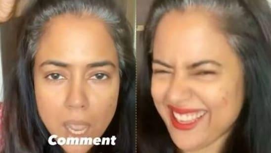 Sameera Reddy is proud of her grey hair.