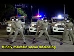 The image shows the police personnel dancing to the song shared by the State Police Media Centre Kerala(Facebook/State Police Media Centre Kerala)