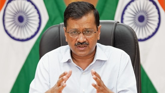 CM Arvind Kejriwal speaks to media on the Covid-19 situation, in New Delhi on Tuesday. (ANI Photo)