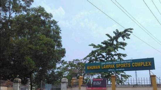 Imphal's Khuman lampak sports complex, one of the advanced in India, has been closed for sporting activities due to the Covid pandemic (HT Photo/Sobhapati Samom)