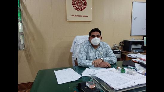 Ambala civil surgeon Dr Kuldeep Singh said the two accused were instigating relatives of other patients against the doctors. (HT Photo)