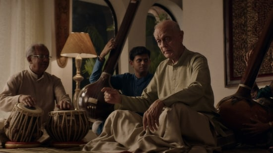 The Disciple movie review: Aditya Modak as Sharad Nerulkar, and Arun Dravid, as Guruji, in a still from Chaitanya Tamhane's new film.