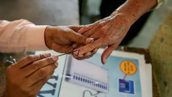 Voting is being held in the districts of Ambedkar Nagar, Aligarh, Kushinagar, Kaushambi, Ghazipur, Farrukhabad, Bulandshahr, Basti, Bahraich, Banda, Mau, Mathura, Shahjahanpur, Sambhal, Sitapur, Sonbhadra and Hapur.(PTI File Photo)