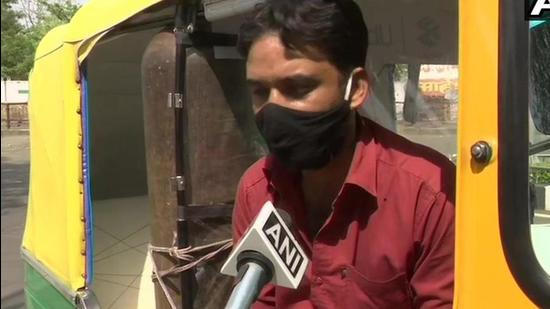 Thirty-four-year-old Javed Khan, an auto driver in Bhopal. (ANI)