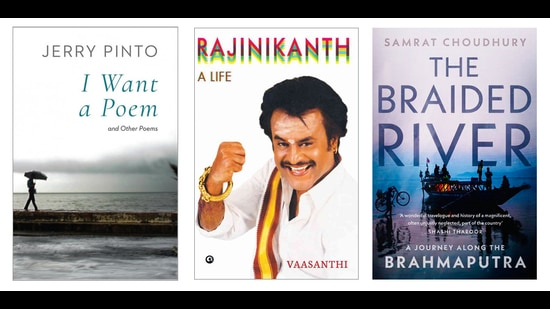 On the reading list this week is a volume of poetry, a book on a wildly popular movie star, and another on one of India's mightiest rivers. (HT Team)