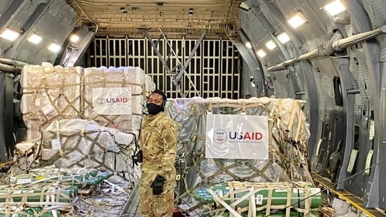 Covid-19 relief material from US arrived in India on Friday. (@USAndIndia/Twitter Photo )