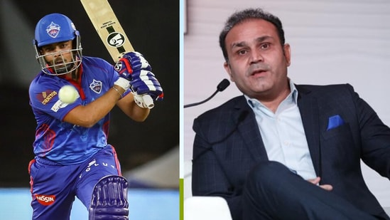 Prithvi Shaw and Virender Sehwag.(IPL/HT)