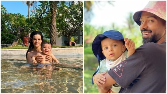 Natasa Stankovic and Hardik Pandya shared pictures with their son Agastya.