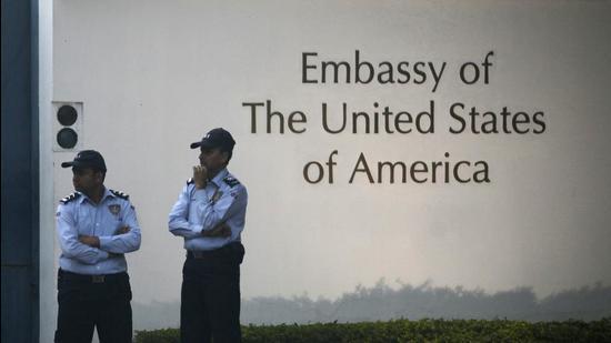 The US Embassy in New Delhi. (File photo)