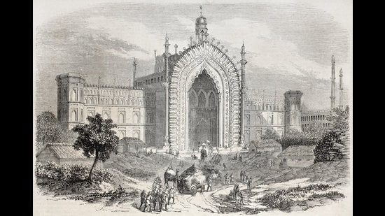 An illustration published in the Journal Universel, Paris, 1857, of the Rumi Darwaza gateway in Lucknow, the city where Mir spent his last years. (Shutterstock)