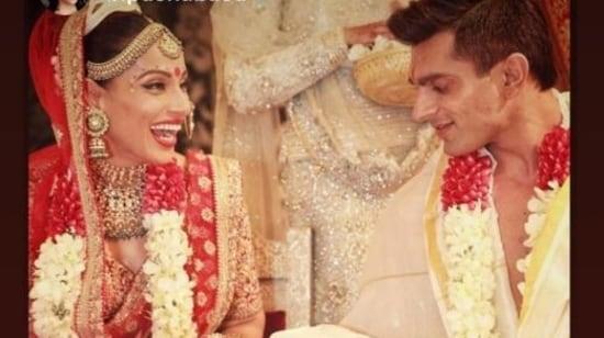 Bipasha Basu and Karan Singh Grover during their wedding.
