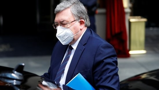 Russia's Governor to the International Atomic Energy Agency (IAEA), Mikhail Ulyanov arrives for a meeting of the Joint Commission of the Joint Comprehensive Plan of Action (JCPOA), in Vienna, Austria,(Reuters)