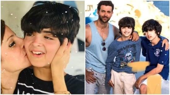 Sussanne Khan wished her son Hridhaan Roshan on his thirteenth birthday.