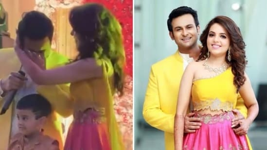 Sugandha Mishra shared a new video from her ring ceremony with Sanket Bhosale.