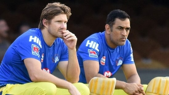 Shane Watson and MS Dhoni in 2019. (Twitter)