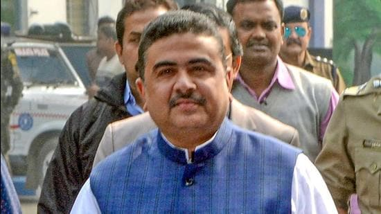 In the 2016 assembly election, Adhikari secured 67% votes in Nandigram while the BJP got only around 5% but the latter made deep inroads in the 2019 Lok Sabha elections and won 29% votes in this assembly segment, nibbling primarily into the Left's vote share. (PTI PHOTO.)