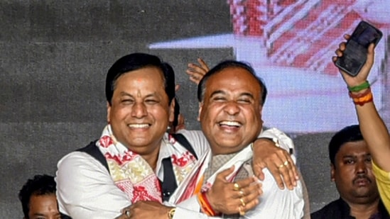 Sonowal and Sarma themselves have dismissed the talk of their future role as media speculation and stressed that they work as a team. (PTI Photo) (PTI)
