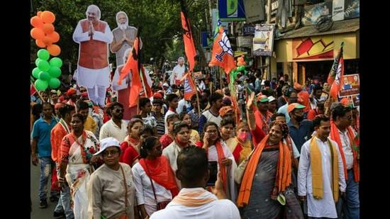 The loss in West Bengal is going to pinch the BJP, as this was an emotional project for the party. A victory would have given the party an ideological boost and narrative advantage till 2024 (AP)