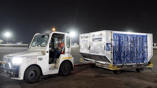 Covid-19 relief supplies containing oxygen concentrators at the Indira Gandhi International Airport in New Delhi.(ANI | Representational image)