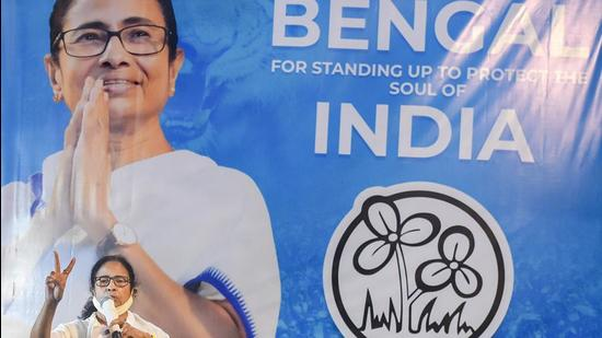 TMC chief and West Bengal chief minister Mamata Banerjee during an interaction with media in Kolkata on Sunday, May 2. (PTI)