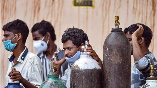 Delhi has been facing an acute shortage of liquid medical oxygen which is critical to the treatment of Covid-19 patients battling severe symptoms. (PTI)