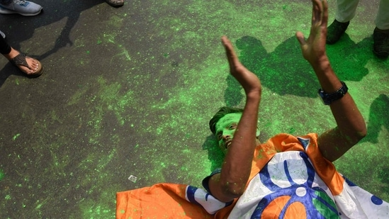 All India Trinamool Congress's (TMC) victory in West Bengal has belied all predictions(AFP)