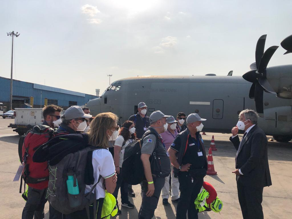 The team of medical specialists arrives in Delhi. (Photo: Italian Embassy)