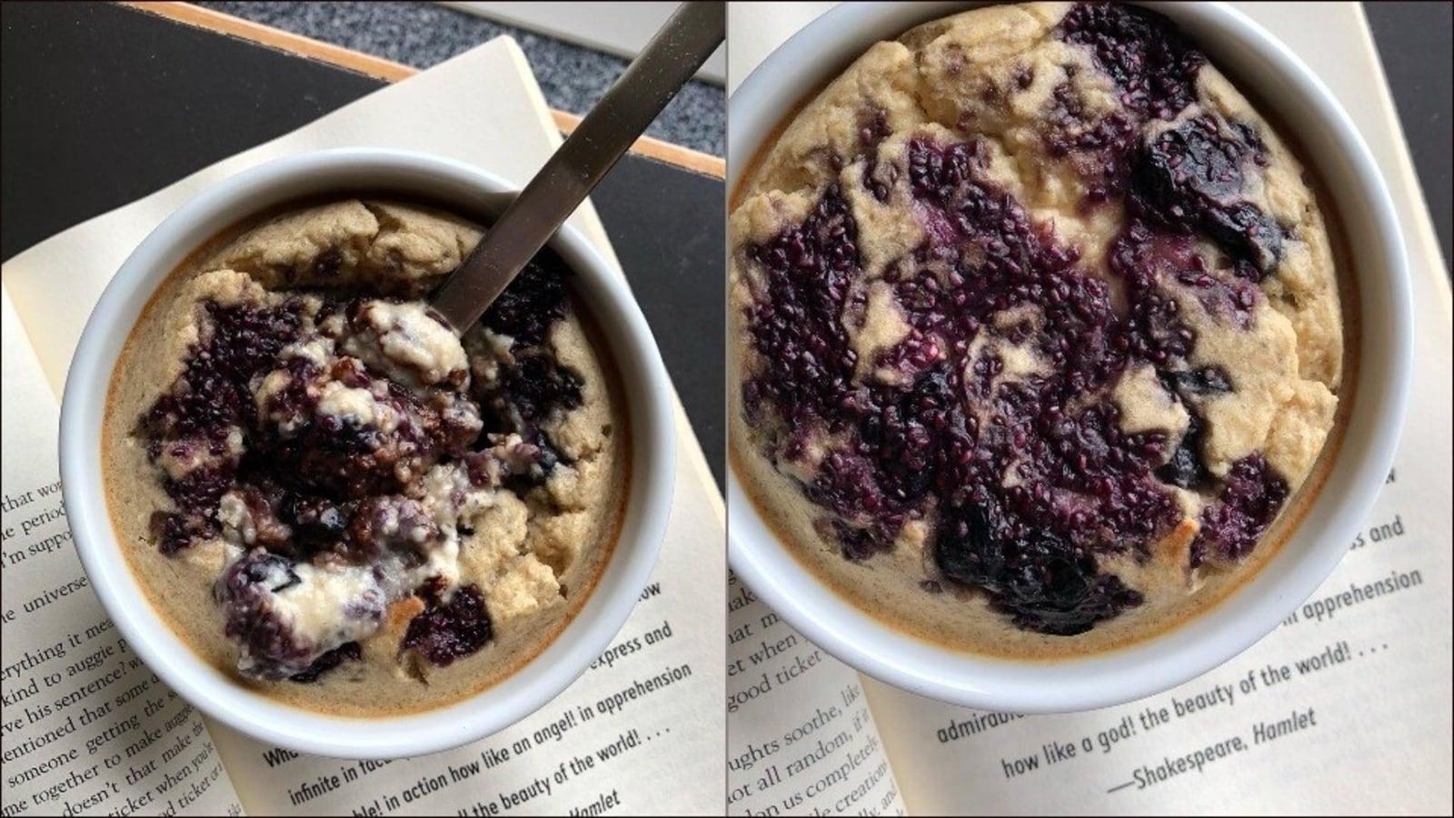Recipe: Got an overripe banana? Use it to make blueberry chia jam baked oats