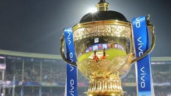 File photo of IPL trophy.(BCCI photo)