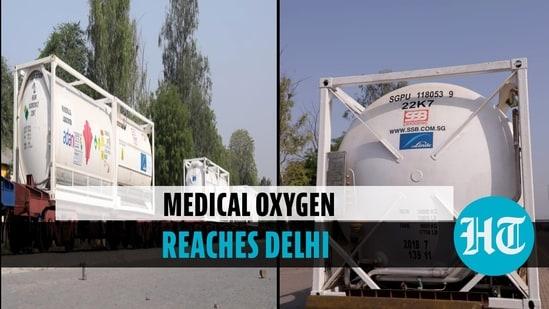 Oxygen Express with 120 MT liquid medical oxygen arrives in Delhi