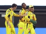 MS Dhoni and Chennai Super Kings in action during IPL 2021. (ANI)