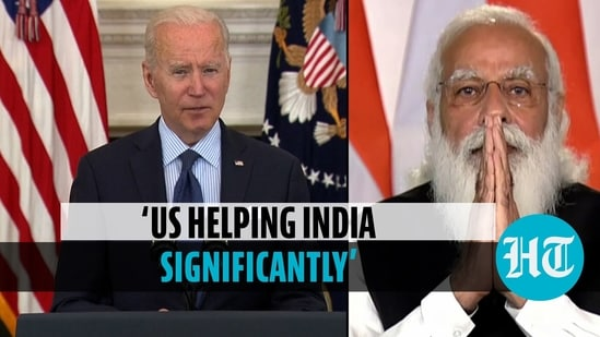 Biden said the United States is 'doing a lot for India' to help battle the second wave of Covid