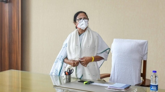 Mamata Banerjee announced the slew of Covid-19 measures on her first day in office after assuming the post of the chief minister of West Bengal for the third consecutive term.(File Photo / PTI)