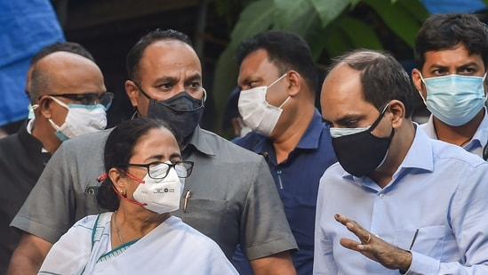 """The TMC has rejected the BJP's allegations, with Mamata Banerjee saying: """"I have noticed that violence and clashes are taking place in those areas where the BJP have won the elections. These places can be seen as black spots."""". (PTI Photo/Swapan Mahapatra)(PTI)"""