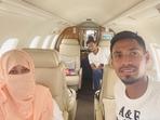 Shakib Al Hasan and Mustafizur Rahman on their way back to Bangladesh(Mustafizur Rahman / Twitter)