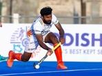 Indian men's hockey team defender Surender Kumar(Hockey India / Twitter)