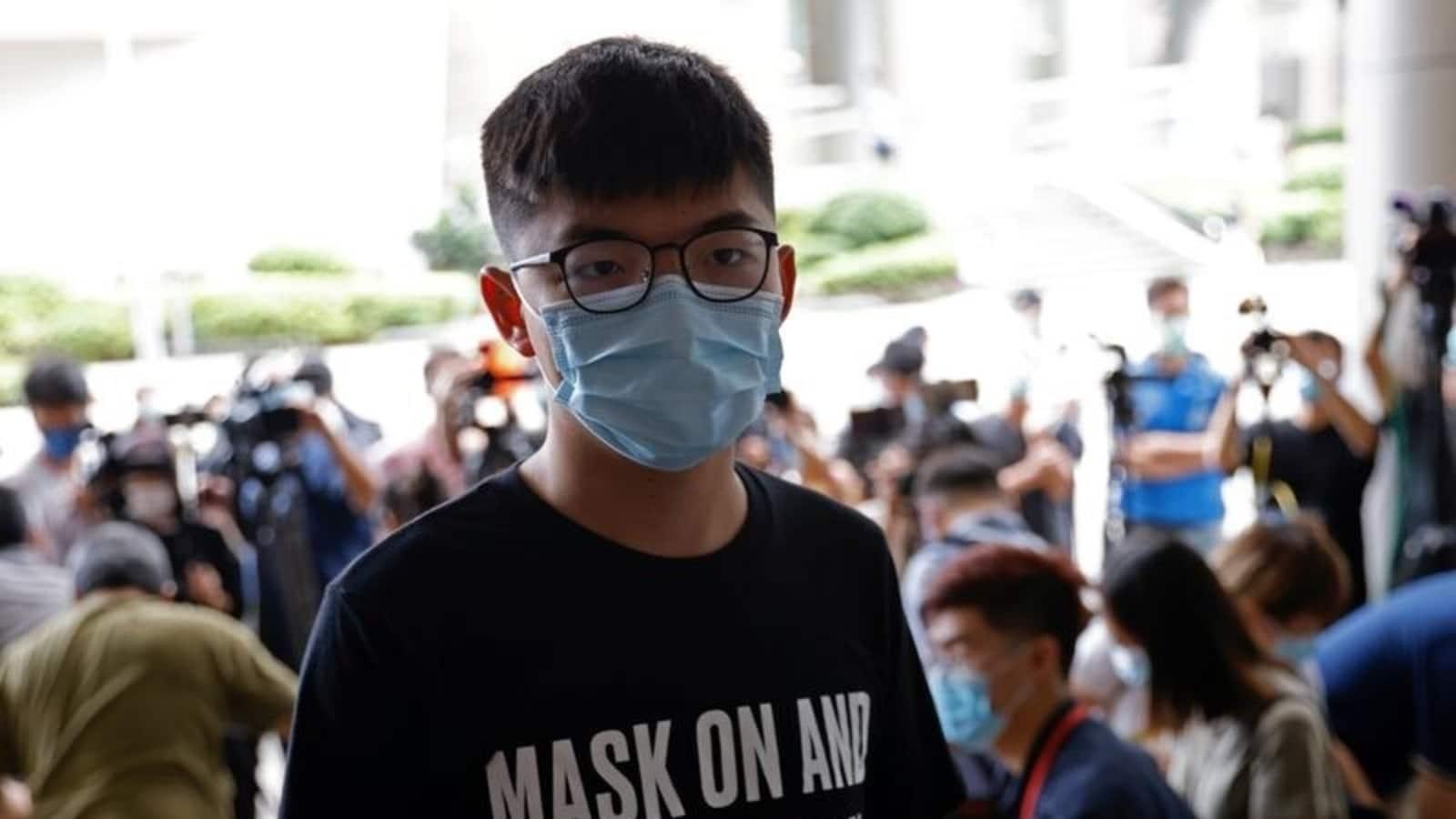 Hong Kong activist Joshua Wong jailed over 'unlawful' Tiananmen Square vigil