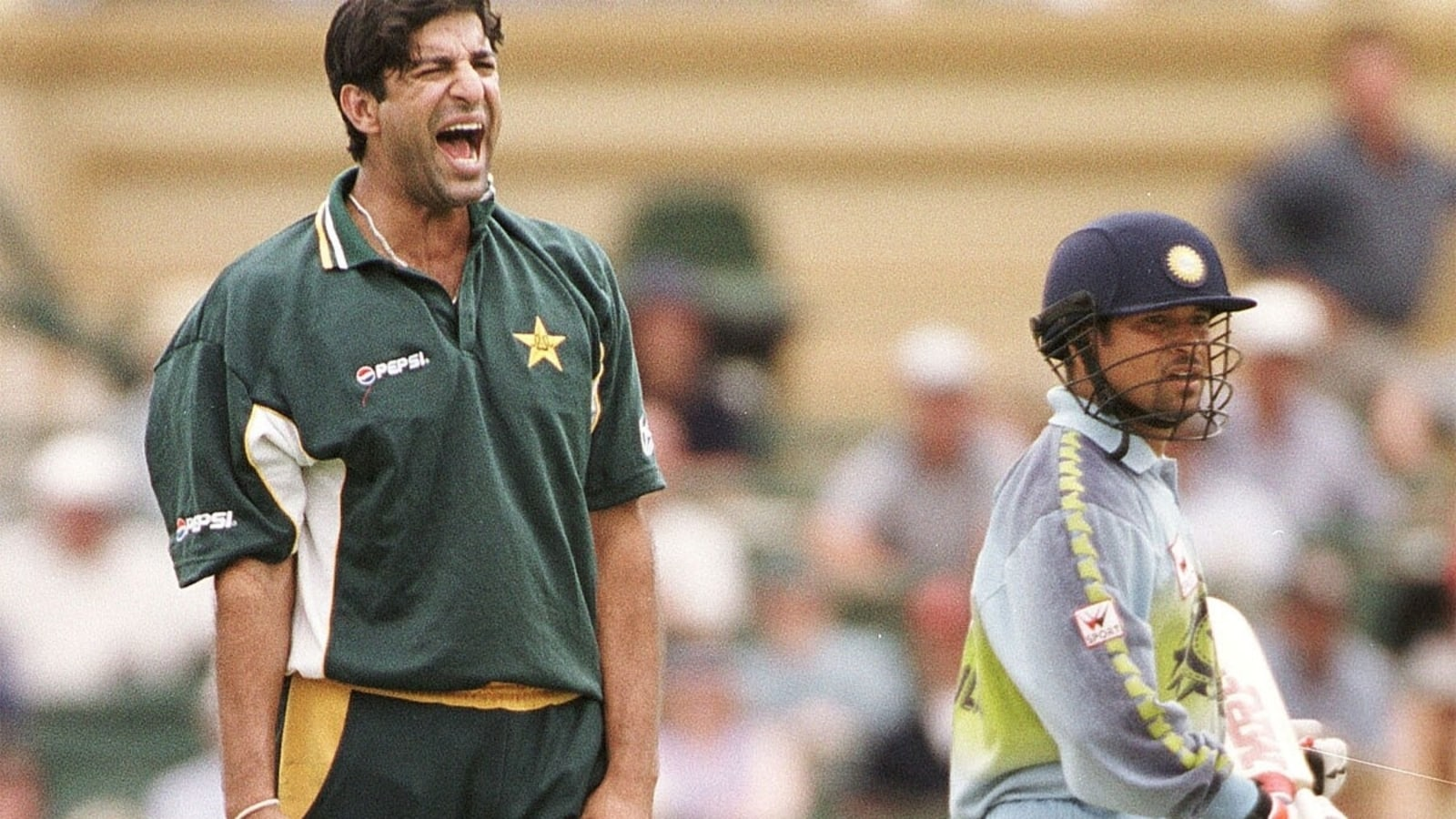 He got hit on the helmet and smashed the next ball for six: Prasad narrates battle between Tendulkar and Akram