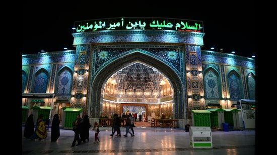 The shrine in Karbala, Iraq, of Imam Hussain and his faithful companions martyred in the battle of Karbala in 680 AD (Shutterstock)