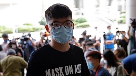 Pro-democracy activist Joshua Wong at the Eastern Magistrates' Courts in Hong Kong. (Tyrone Siu / REUTERS)