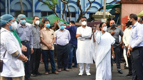 West Bengal chief minister Mamata Banerjee took stock of Covid-19 situation in the state on Wednesday.
