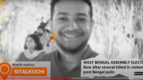 This scribe's photo was used by the BJP IT cell to claim that a BJP party worker has been killed. (YouTube/BharatiyaJanataParty)