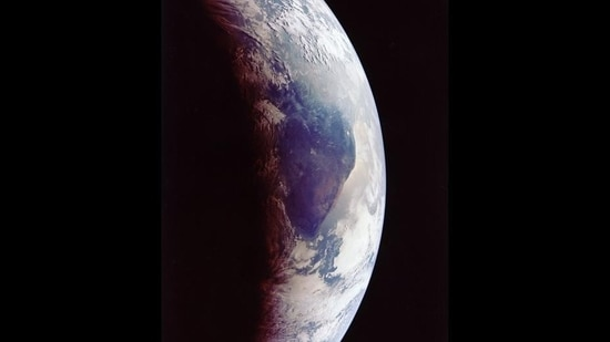 Most debris burns up in the earth's atmosphere before having the chance to crash into its surface but at times, pieces of a large object may hit the earth.(NASA)